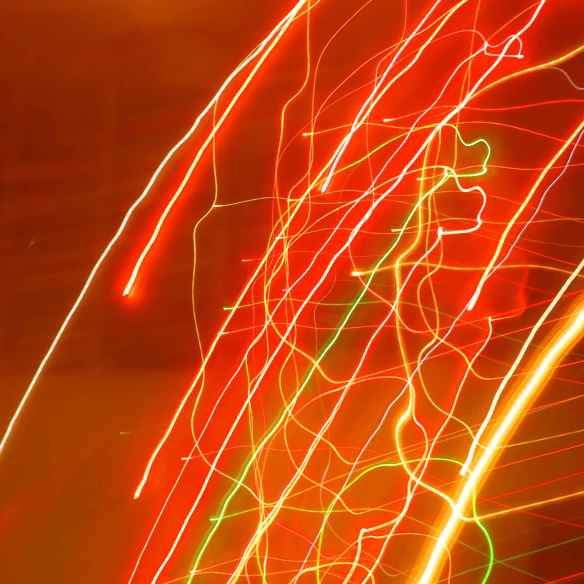 Christmas tree lights blur
