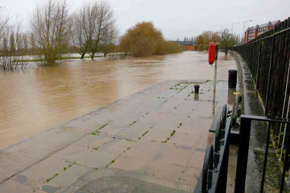 River Severn high water 31.12.12 - 18